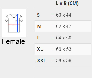 size chart female