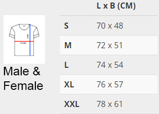 size chart no 3xl